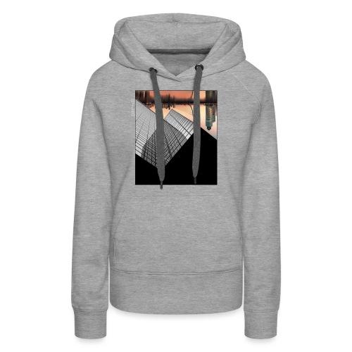 Rotterdam Skyline vs Delftse Poort - Vrouwen Premium hoodie
