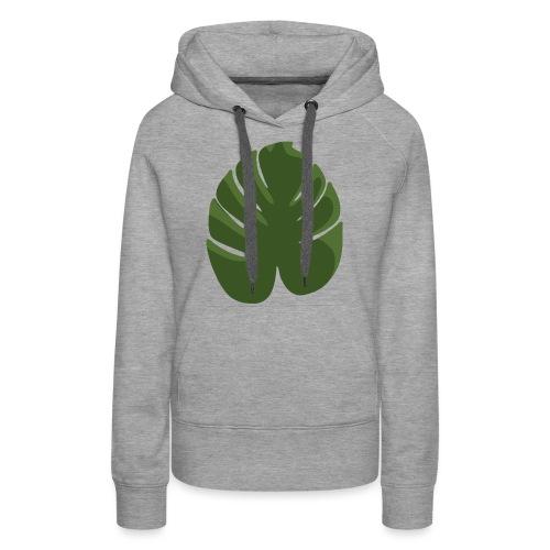 Green - Felpa con cappuccio premium da donna