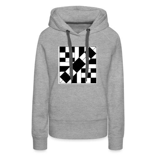 checker patterned art - Women's Premium Hoodie