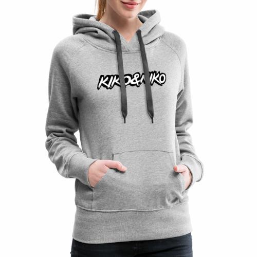 LOGO KIKO 2020 - Felpa con cappuccio premium da donna
