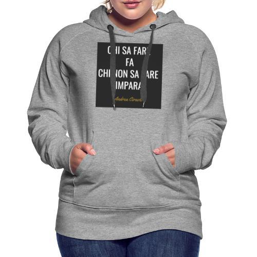 Ciraolo - Felpa con cappuccio premium da donna