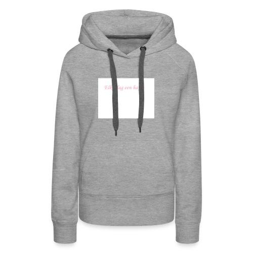 Elke dag een hapje - Vrouwen Premium hoodie