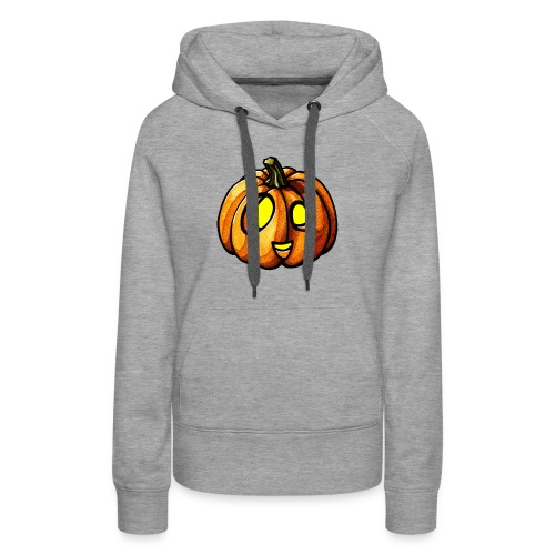 Pumpkin Halloween watercolor scribblesirii - Bluza damska Premium z kapturem