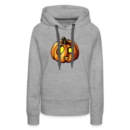 Pumpkin Halloween watercolor scribblesirii - Naisten premium-huppari
