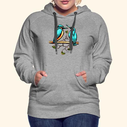 Eisvogel Paar farbe - Frauen Premium Hoodie