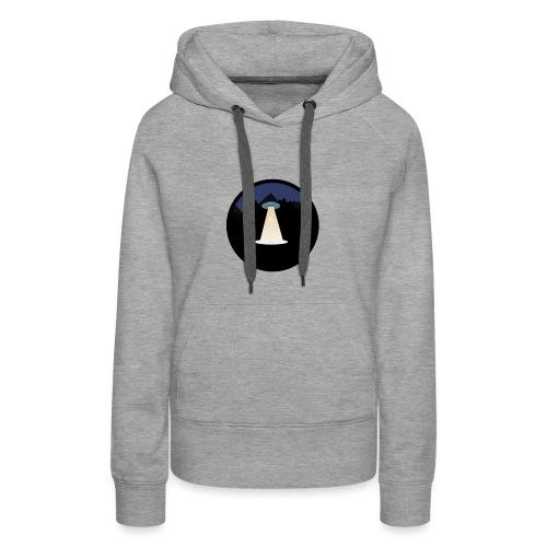 UFO beaming up a deer - Vrouwen Premium hoodie