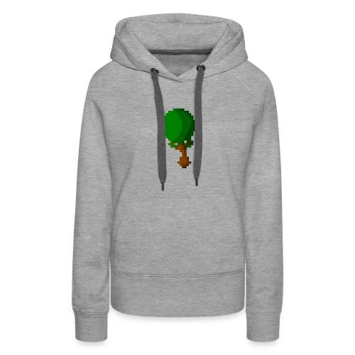Happy Pixel Tree - Vrouwen Premium hoodie