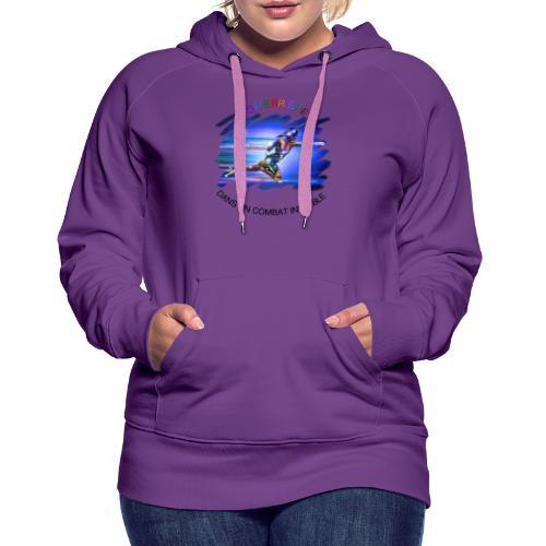 Guerrière dans un combat invisible - Sweat-shirt à capuche Premium pour femmes