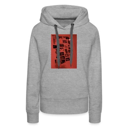 Red Grunge Night T-shirt - Women's Premium Hoodie