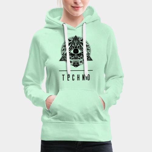 the EYE of TECHNO - Frauen Premium Hoodie