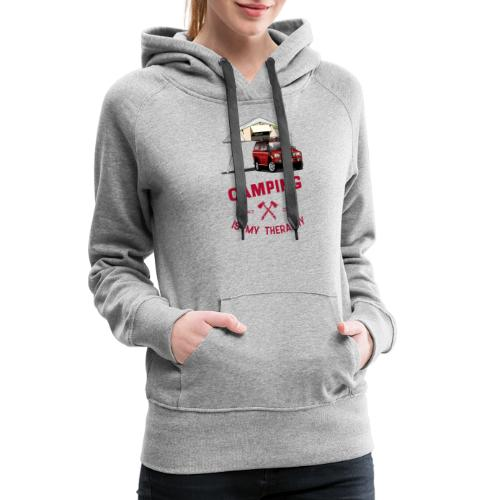 Camping is my Theraphy Dachzelt - Frauen Premium Hoodie