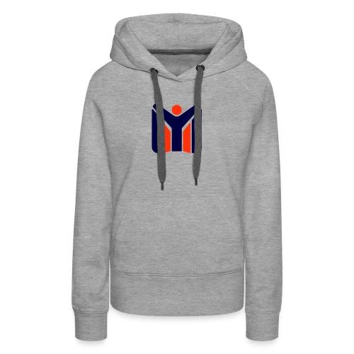 logo MYSC logo - Felpa con cappuccio premium da donna