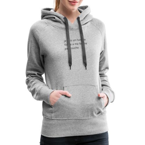 Sans titre - Sweat-shirt à capuche Premium pour femmes