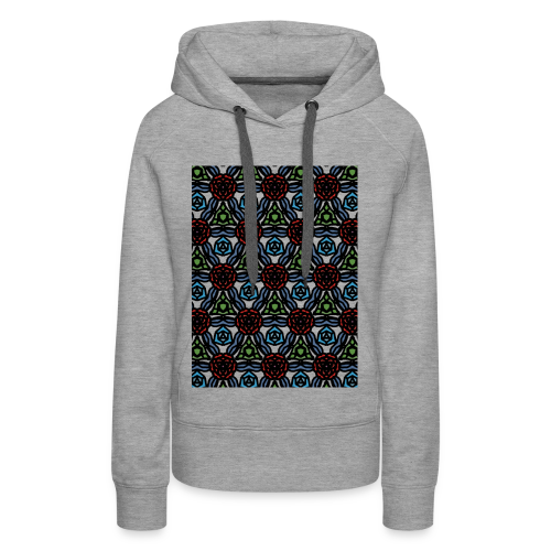 symmetric colourful roses pattern - Women's Premium Hoodie