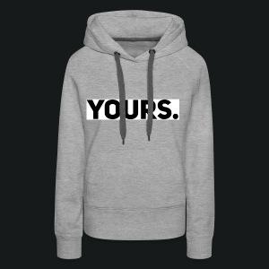 ZWART YOURS. SWEATER MAN - Vrouwen Premium hoodie