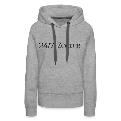 24/7 Zocker - Frauen Premium Hoodie