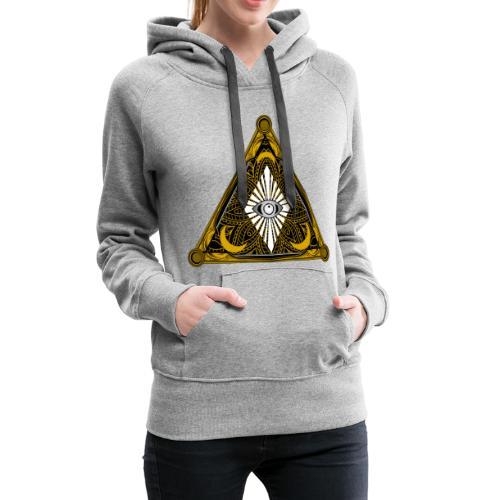Logo Bores 2 - Sudadera con capucha premium para mujer