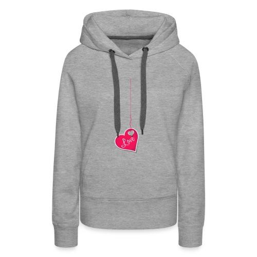 3050d45b6ead3f262513267e7ced9047 - Sweat-shirt à capuche Premium pour femmes