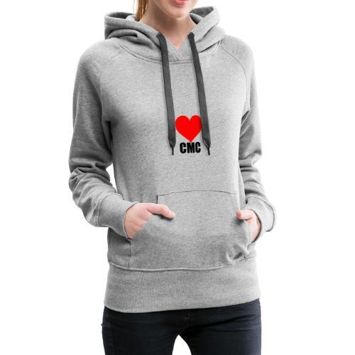 I love CMC black - Sweat-shirt à capuche Premium pour femmes