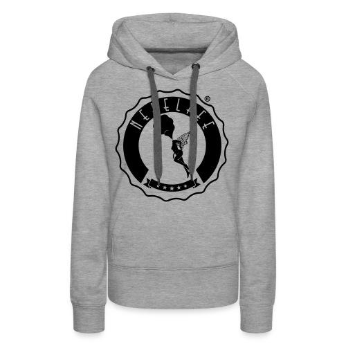 Nebelfee Street Logo schwarz - Frauen Premium Hoodie