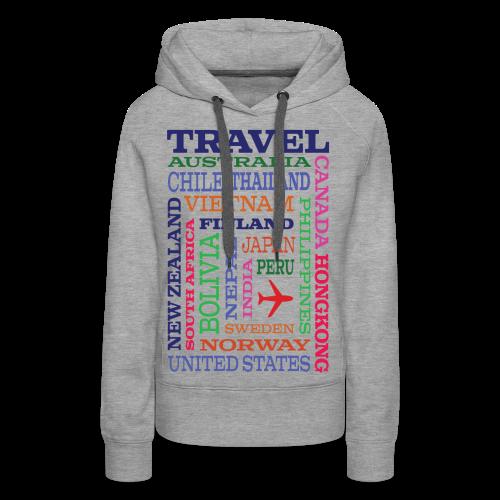 Travel Places design - Naisten premium-huppari