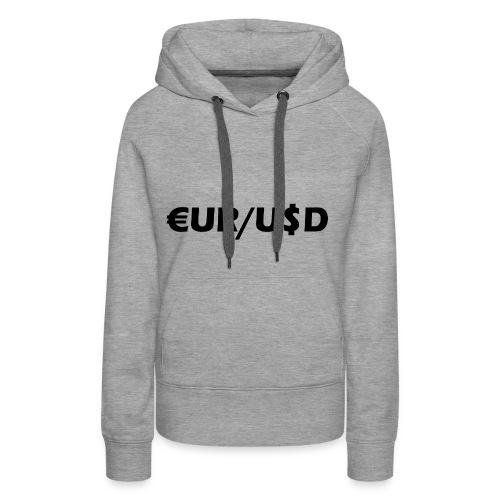 EUR/USD - Frauen Premium Hoodie