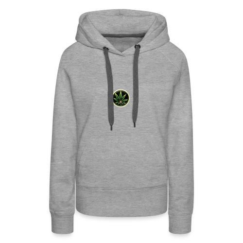 cannabis-vue-densemble - Sweat-shirt à capuche Premium pour femmes