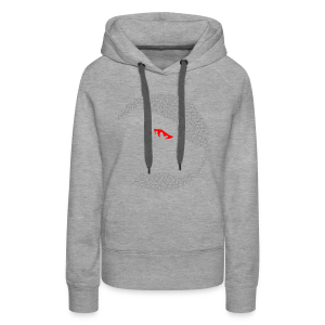 Pulldogs-Kopf Grey'n'red - Frauen Premium Hoodie