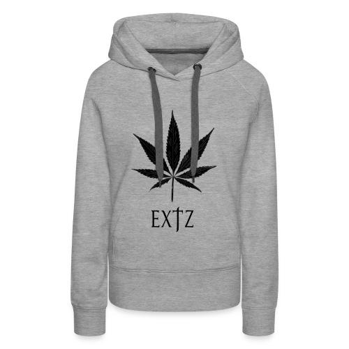 Vetement Marque EXTZ Feuille De Canabis Noir. - Sweat-shirt à capuche Premium pour femmes