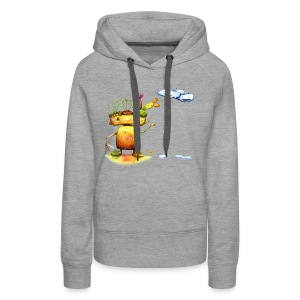 Robot with his plant friends - Vrouwen Premium hoodie