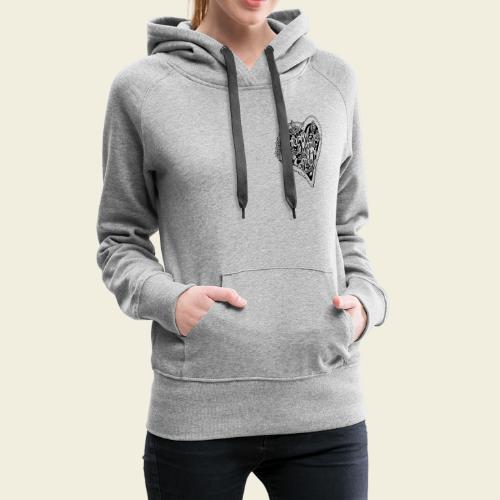 Vergissmeinnicht-Herz - Frauen Premium Hoodie