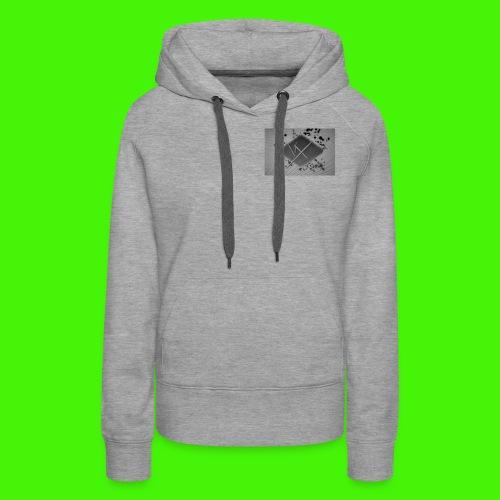 white,gray and black vX logo - Women's Premium Hoodie