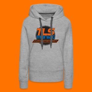 TLS Maniac Logo With Transparent Outline - Women's Premium Hoodie