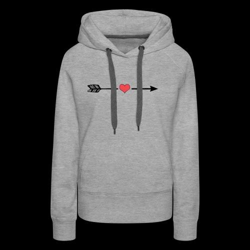 Love Arrow, Pfeil Liebe minimalistic - Frauen Premium Hoodie