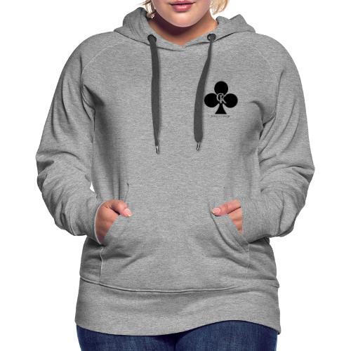 official king clover - Sweat-shirt à capuche Premium pour femmes