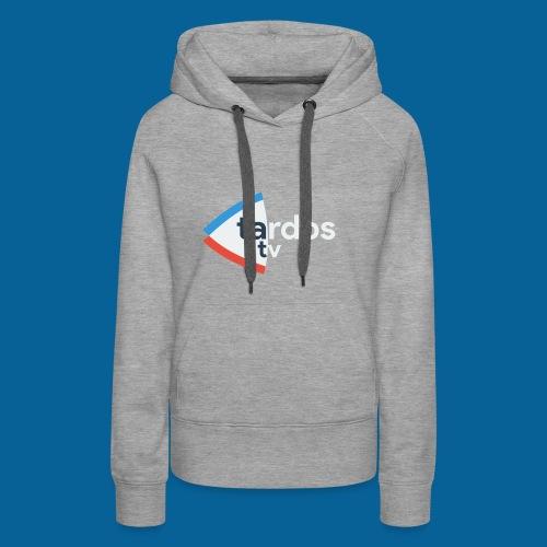 Tardos TV Logo version 2 - Sweat-shirt à capuche Premium pour femmes