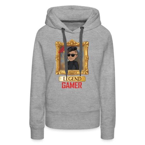 LEGEND GAMER - Dame Premium hættetrøje