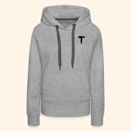 T - Sweat-shirt à capuche Premium pour femmes