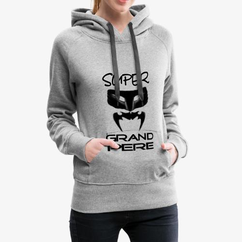 super grand père - Sweat-shirt à capuche Premium pour femmes