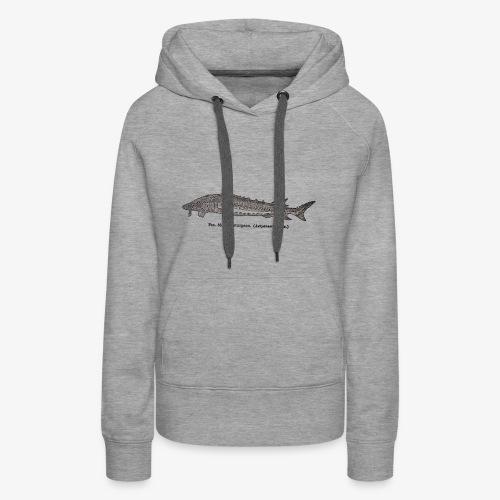 Esturgeon-Fig.38 - Sweat-shirt à capuche Premium pour femmes