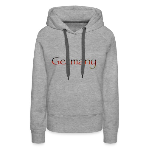 Deutschland Schriftzug Horizontal - Frauen Premium Hoodie