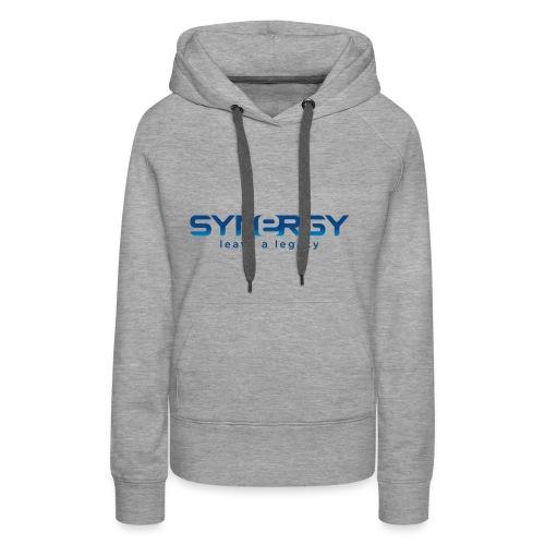 synergylogo - Sudadera con capucha premium para mujer