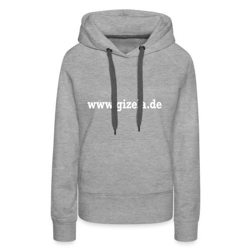 GIZELA web white - Frauen Premium Hoodie