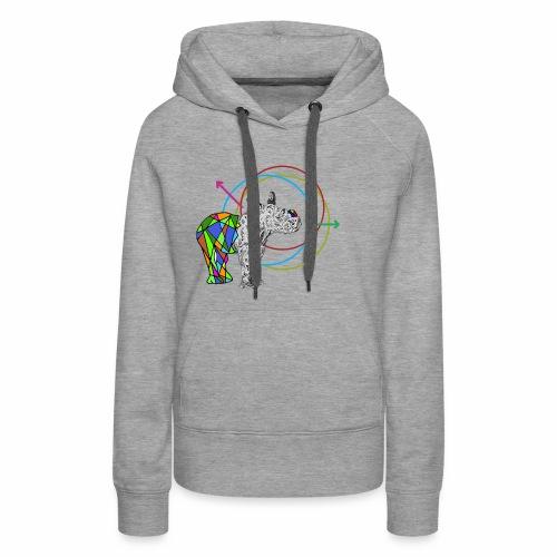 Bébé rhinocéros - Sweat-shirt à capuche Premium pour femmes