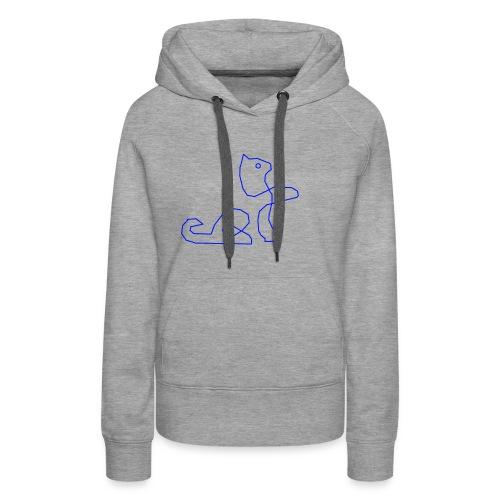Blaue Katze - Frauen Premium Hoodie