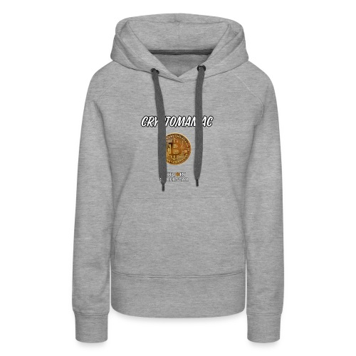 Cryptomaniac - Felpa con cappuccio premium da donna