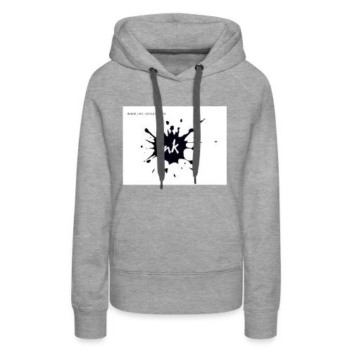 Ink Logo and website - Women's Premium Hoodie