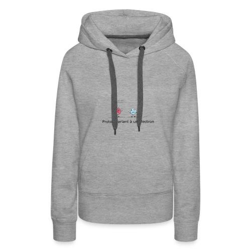 electron - Sweat-shirt à capuche Premium pour femmes