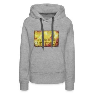 La planète souffre - Sweat-shirt à capuche Premium pour femmes