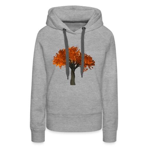 Roter Laubbaum - Frauen Premium Hoodie
